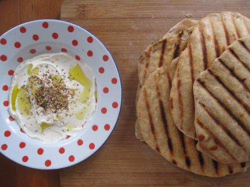 Labneh et pain maison